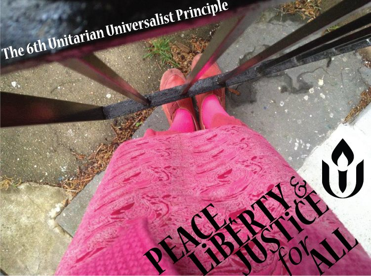 Self portrait photo with text for UU congregation to use