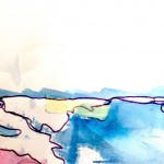 Watercolor painting for community art  journal project